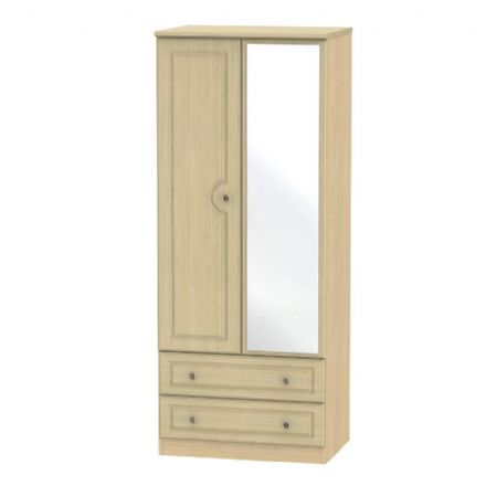 Pembroke Tall 2 Drawer Mirror Robe